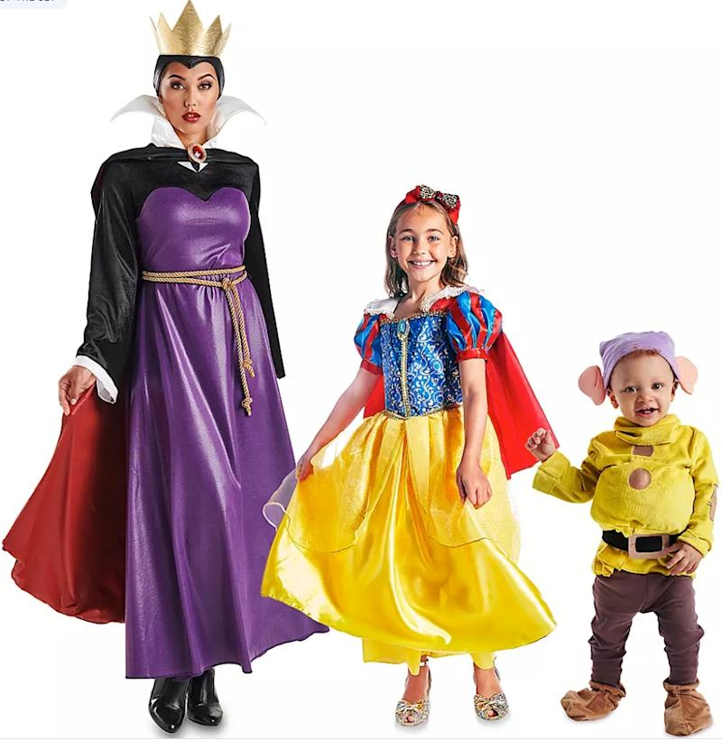 Dress up as your favourite Disney movie characters this year with your family. (Photo via ShopDisney.com)