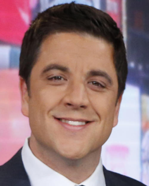 "File-This Feb. 20, 2013 file photo released by ABC shows Josh Elliott, on the set of ""Good Morning America"" in New York. ABC's top-rated ""Good Morning America"" has suffered its second personnel defection in four months, with news anchor Elliott telling the network on Sunday March 30, 2014, that he's leaving for a job at NBC Sports. (AP Photo/ABC, Heidi Gutman, File)"
