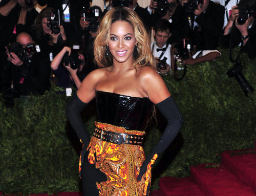 "Beyonce attends The Metropolitan Museum of Art's Costume Institute benefit celebrating ""PUNK: Chaos to Couture"" on Monday May 6, 2013 in New York. (Photo by Charles Sykes/Invision/AP)"