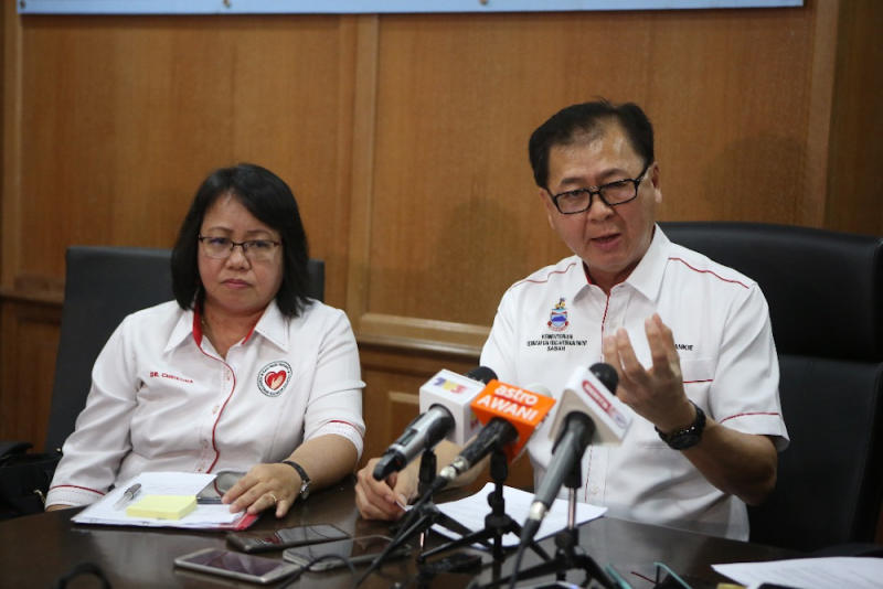 Dr Christina Rundi said it was time for authorities to review its mass immunisation programme. She is seen here with Datuk Frankie Poon during a press conference January 10, 2020. — Picture by Julia Chan