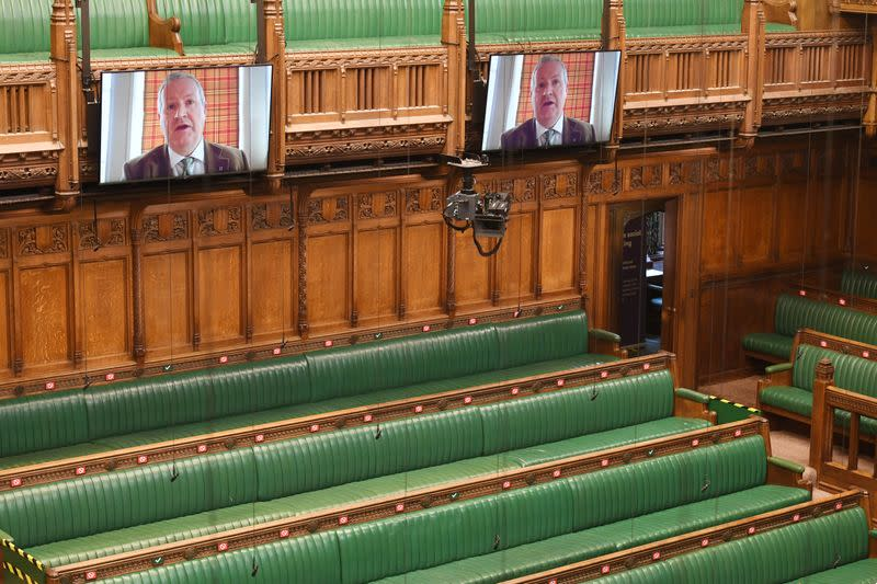 Britain mutes parliament by videoconference