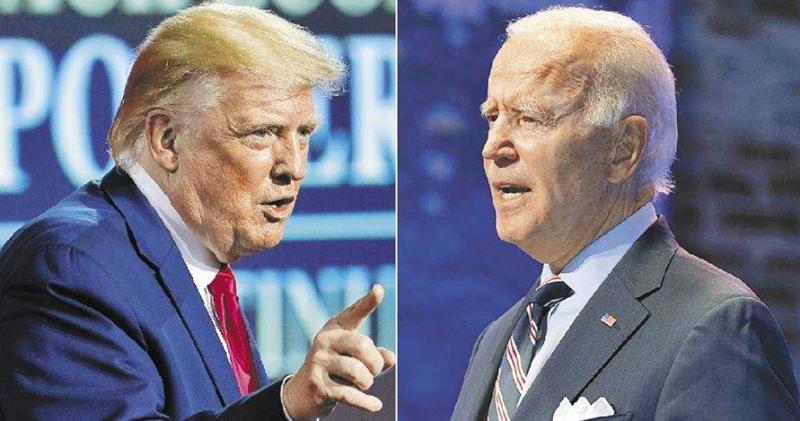 美國現任總統川普(左)與民主黨總統候選人拜登(右)。(圖/達志/美聯社)