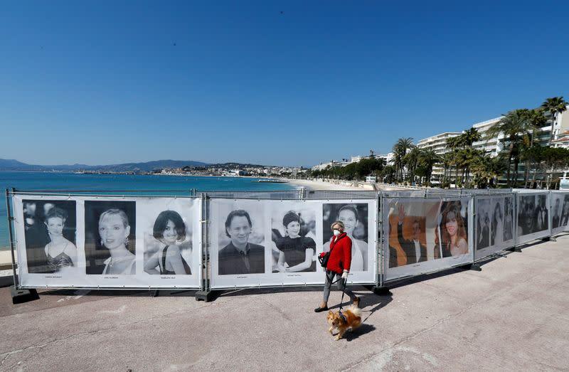 Virus brings Cannes Festival 'stepladder gang' down to earth