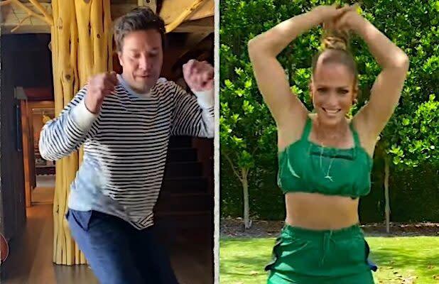 Watch Jennifer Lopez Crush Jimmy Fallon in a Watch-It-Once TikTok Dance Challenge (Video)