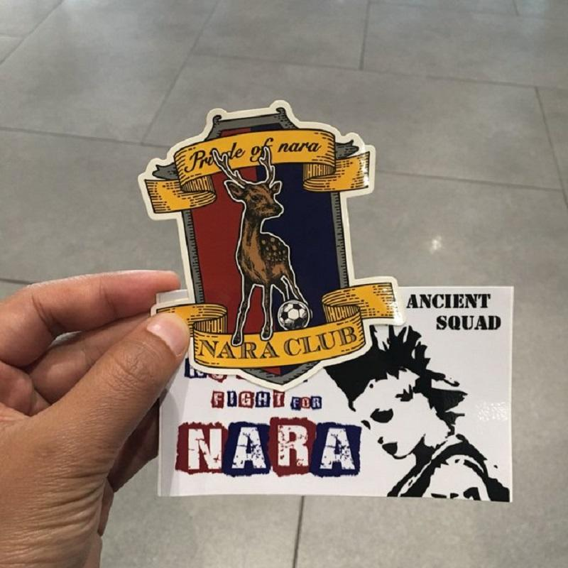 A memento from the couple in Nara Club's Ancient Squad sticker. — Picture via Twitter/juanbudiman
