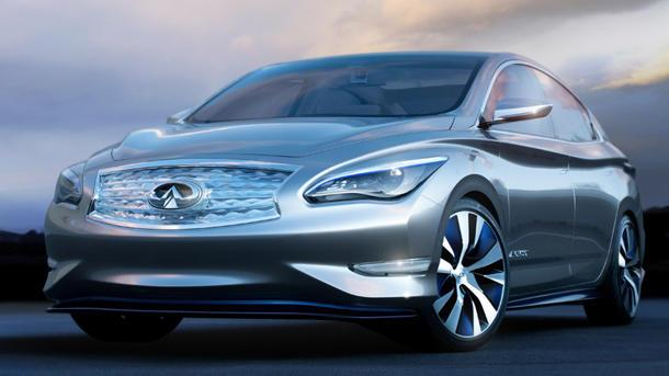 Infiniti LE concept previews a real-word electric luxury sedan