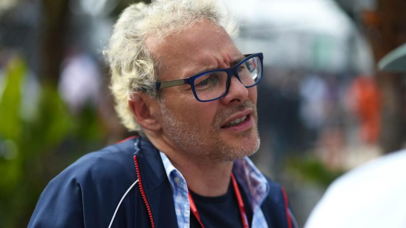 Jacques Villeneuve isn't happy. (Photo by Andrea Diodato/NurPhoto via Getty Images)