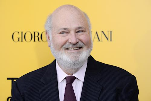 "FILE - This Dec. 17, 2013 file photo shows actor-director Rob Reiner at the premiere of ""The Wolf of Wall Street"" in New York. The Film Society of Lincoln Center announced Tuesday, Feb. 18, 2014 that the director and actor will receive its 41st annual Chaplin Award in a gala on April 28. (Photo by Evan Agostini/Invision/AP, File)"