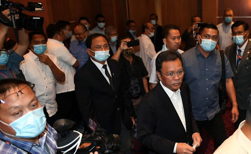 Sabah Chief Minister Datuk Seri Mohd Shafie Apdal is pictured at the Sabah State Administrative Centre in Kota Kinabalu July 30, 2020. ― Bernama pic
