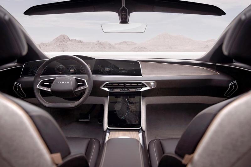 Lucid Air electric car interior