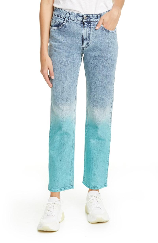 Stella McCartney The Straight Dip Dye Boyfriend Jeans. Image via Nordstrom.