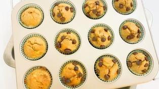 蛋糕食譜|朱古力粒香蕉馬芬