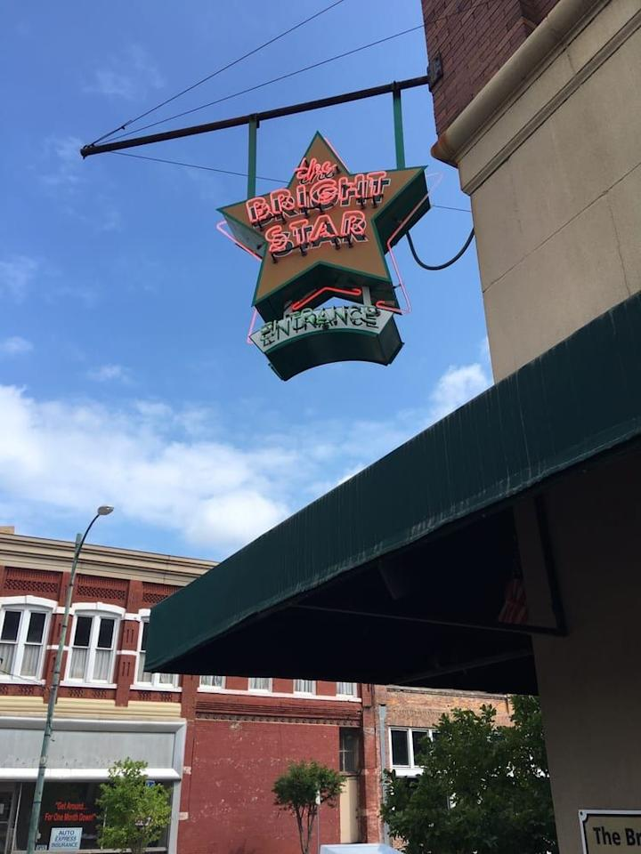 "<p>This <a href=""https://www.tripadvisor.com/Restaurant_Review-g30373-d325995-Reviews-Bright_Star_Restaurant-Bessemer_Alabama.html"" target=""_blank"">tiny café</a> has been on the scene in Bessemer, AL, since 1907, serving patrons at its horseshoe-shaped bar. Greek immigrants started the joint, and it still serves up Mediterranean-inspired specials, like Greek-style snapper.</p>"