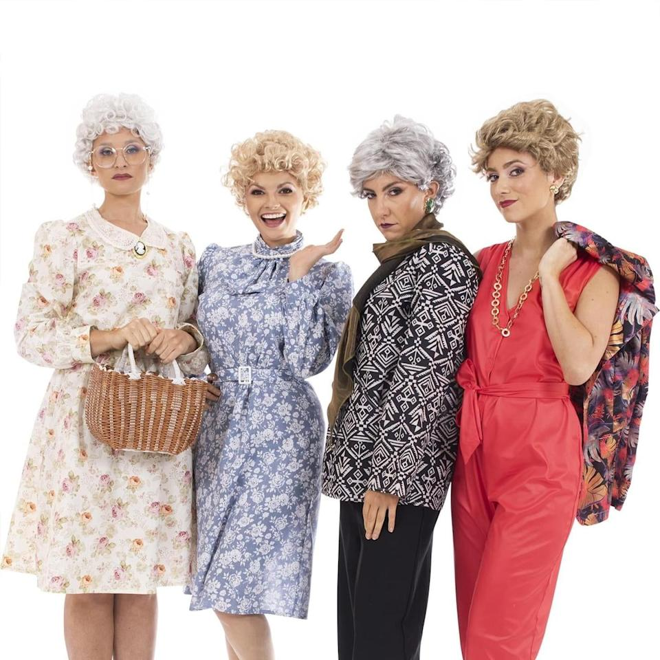 """<p>Our girls at Shady Pines knew how to dress. It's hard to believe that it's been 35 years since we met our favorite funny foursome (<a href=""""https://www.goodhousekeeping.com/life/entertainment/g2758/golden-girls-cast-young/"""" target=""""_blank""""><em>The Golden Girls</em> premiered in 1985</a> on NBC!), and that's partly because the show has taken on a life of its own, creating a fandom that spans multiple generations. <br></p><p>If watching these ladies living out the best of their golden years together reminds you of what you are your pals are going to look like in a couple decades, then we have some good news. There's no need to wait that long, you and your girlfriends can go as everyone's favorite retirees this year for Halloween.</p><p>That's right, you can buy officially licensed <em>G</em><em>olden Girls </em>Halloween costumes on Amazon, complete with an outfit and accessories for each character.<em> </em>Whether you're the Rose, Blanche, Sophia or Dorothy of your friend group, you can dress up as your favorite character thanks to these costumes that are available online. Tell your besties that you've found the perfect <a href=""""https://www.goodhousekeeping.com/holidays/halloween-ideas/g1422/group-halloween-costumes/"""" target=""""_blank"""">group Halloween costume </a>to wear this year, they're sure to thank you for being a friend (and don't forget to see our full list of <a href=""""https://support.apple.com/guide/news-publisher/apple-news-notification-guidelines-apd2e6e6d98f/icloud"""" target=""""_blank""""><em>Golden Girls</em> facts</a> you never knew).</p>"""