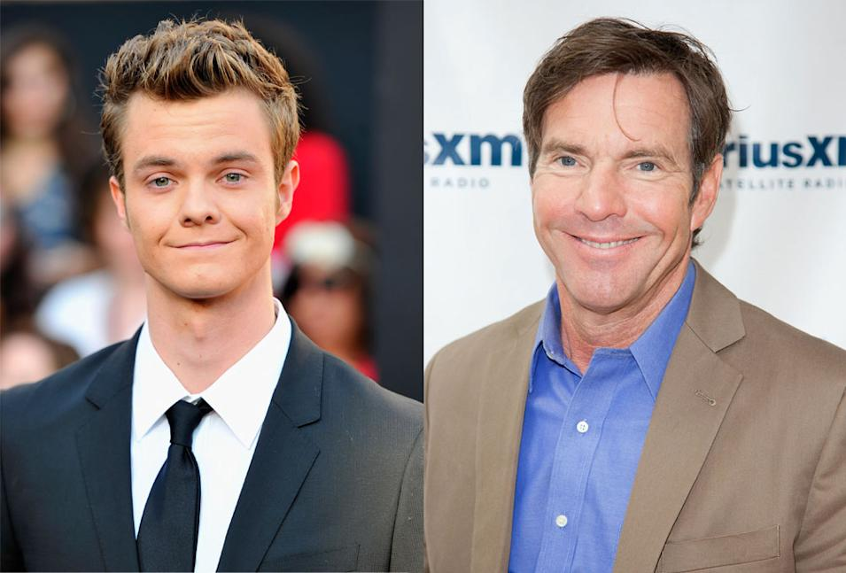 Jack Quaid and Dennis Quaid