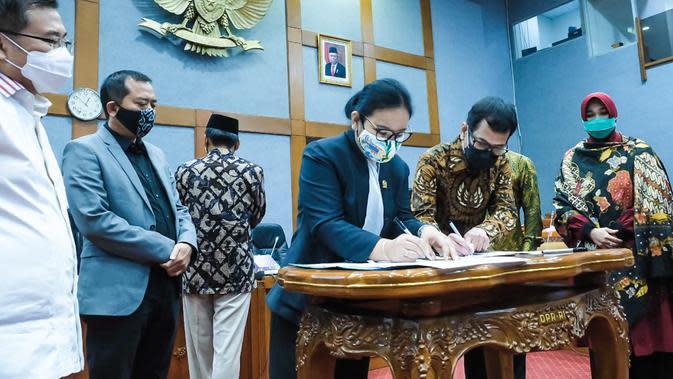 DPR setujui jumlah anggaran Kementerian Pariwisata dan Ekonomi Kreatif untuk tahun 2021. (dok. Biro Komunikasi Kemparekraf/Baparekraf)