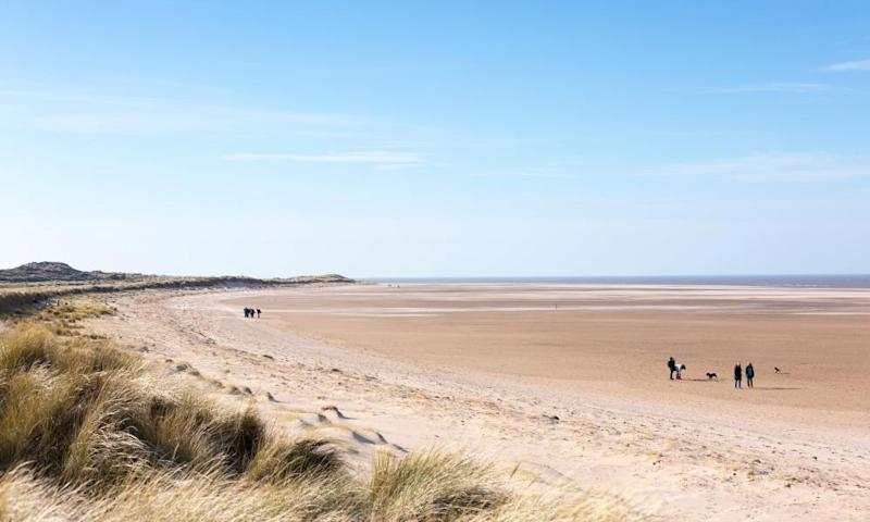 Holkham beach, north Norfolk, in quieter times