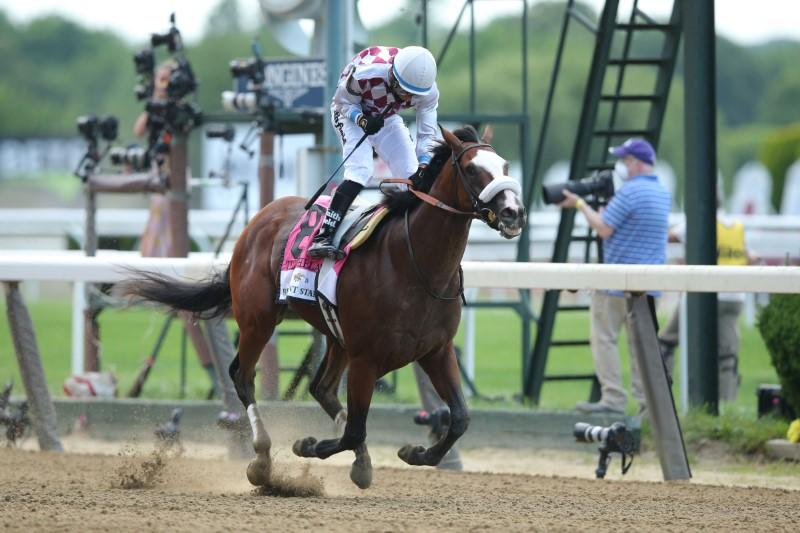 Tiz the Law wins Belmont Stakes to clinch first leg of Triple Crown