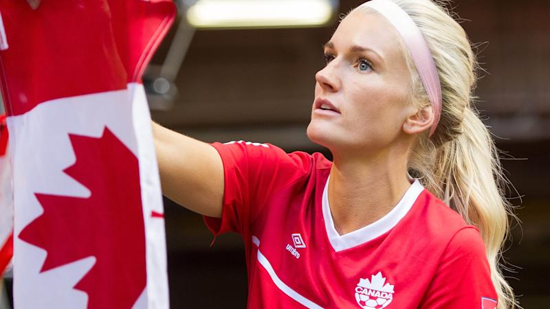 Kaylyn Kyle in action for Canada in 2015. (Photo by Rich Lam/Getty Images)