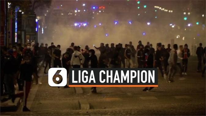 VIDEO: Tim Kesayangan Kalah di Liga Champion, Pendukung PSG Rusuh di Paris