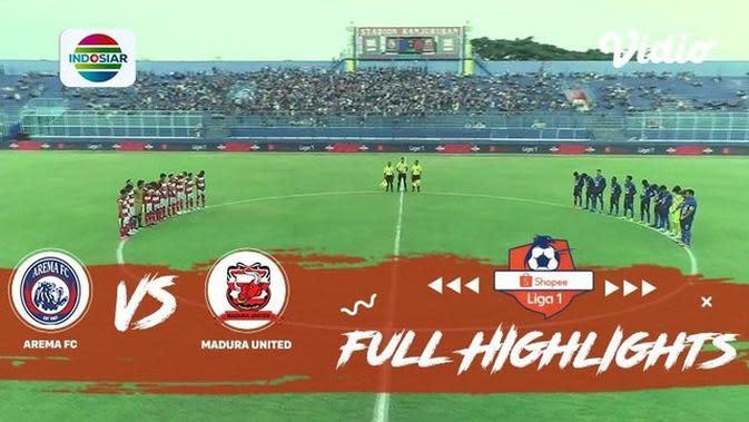 VIDEO: Highlights Shopee Liga 1 2019, Arema FC Vs Madura United 2-0