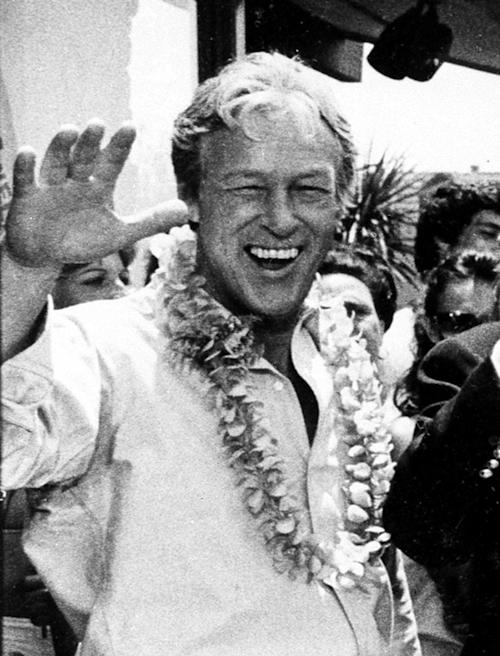 "FILE - This Oct. 2, 1978 file photo shows Russell Johnson, as the professor, posing during filming of a two-hour reunion show, ""The Return from Gilligan's Island,"" in Los Angeles. Johnson died Thursday, Jan. 16, 2014, at his home in Washington State of natural causes. He was 89. (AP Photo/Wally Fong, File)"