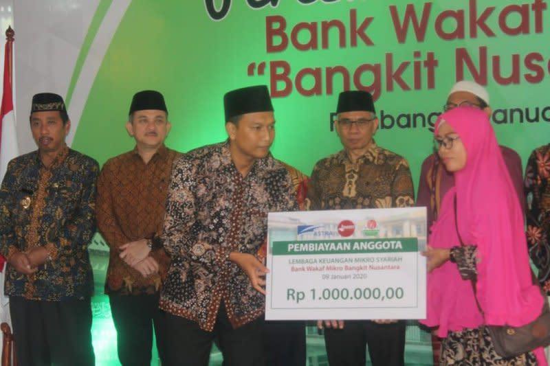 Penerima manfaat Bank Wakaf Mikro 25.631 nasabah