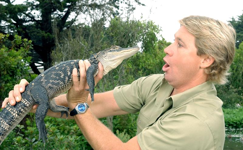 """""""The Crocodile Hunter"""" Steve Irwin was the subject of a joke between two baseball teams about the sea creature responsible for his death. (Photo by Justin Sullivan/Getty Images)"""