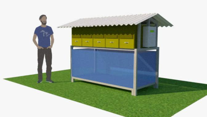 Tim SansBoss ITS mengusulkan inovasi teknologi untuk mengolah sampah organik rumah tangga. (Foto: Dok ITS)