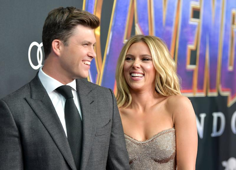 Colin Jost proposed to Scarlett Johansson in May earlier this year [Picture: Getty Images]