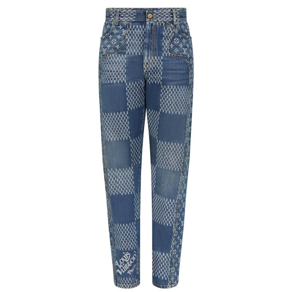 "<p><strong>Louis Vuitton</strong></p><p>louisvuitton.com</p><p><strong>$1620.00</strong></p><p><a href=""https://us.louisvuitton.com/eng-us/products/damier-giant-waves-monogram-denim-pants-nvprod2220042v"" target=""_blank"">Shop Now</a></p><p>There's a lot to love about the LV2 collaboration between Virgil Abloh and Nigo, but it's hard to top these multi-printed jeans when it comes to unabashed (and truly huge) vibes. </p>"