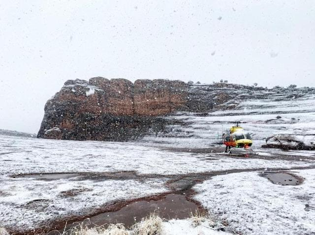 A photo posted on the Facebook page of the Grand County Sheriff's Office in Utah reveals challenging weather conditions around the time of the fatal hiking accident. (Photo: Photo courtesy Grand County Sheriff's Office)