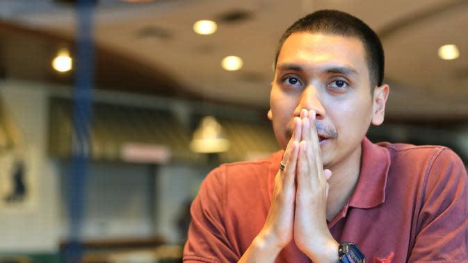 Rayi ditemui Bintang.com di Nafirro Park, Pasar Minggu, Jakarta Selatan, Selasa (17/1/2017) menceritakan kenangan bersama RAN dan keinginan yang belum tercapai bersama grupnya. (Adrian Putra/Bintang.com)
