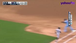 【MLB好球】球棒炸碎不影響!Donaldson美技滑接刺殺打者