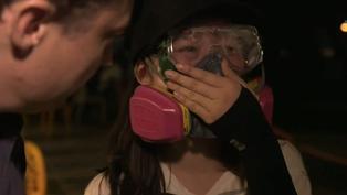 香港示威:BBC記錄下的理工大學「戰場」晝與夜