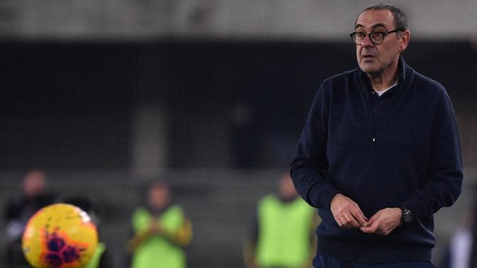 Pelatih Juventus, Maurizio Sarri. (AFP/Marco Bertorello)
