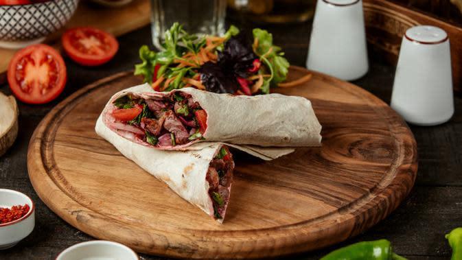 Ilustrasi Kebab Isi Daging Credit: pexels.com
