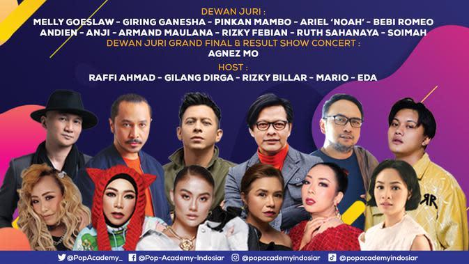 Pop Academy tayang mulai Senin (5/10/2020) mulai pukul 21.00 WIB live di Indosiar