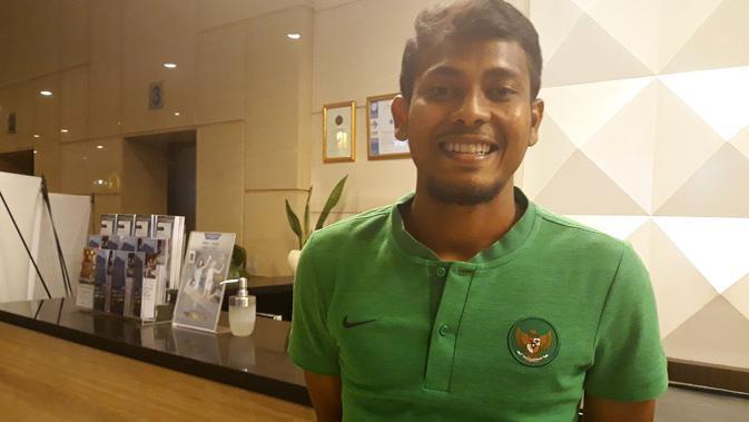 Pemain Timnas Indonesia U-23 di Asian Games 2018, Zulfiandi. (Bola.net/Fitri Apriani)