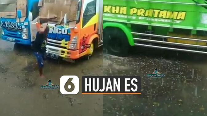 VIDEO: Viral Hujan Es Guyur Sumatera Utara