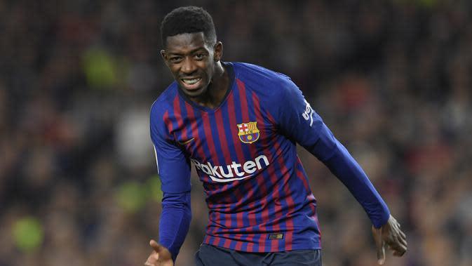 1. Ousmane Dembele - Ousmane Dembele kesulitan menemukan performa terbaiknya sejak pindah ke Barcelona pada 2017 lalu. Pemain asal Pransic ini hanya lima kali tampil di pertandingan La Liga pada musim 2019/2020 ini. (AFP/Lluis Gene)