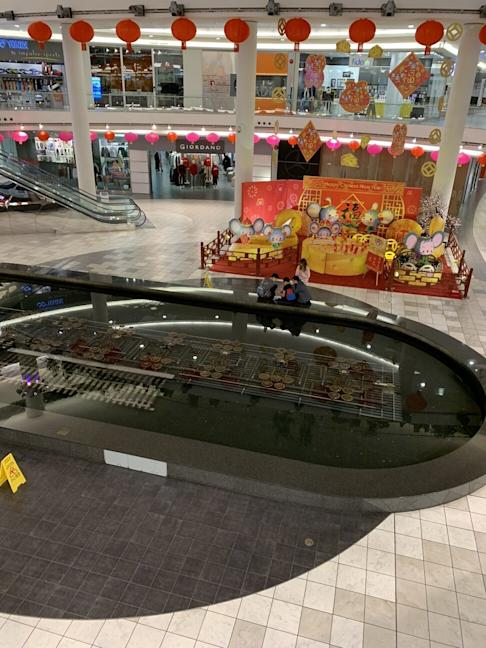 The usually bustling Aberdeen Centre mall in Richmond in British Columbia, at about 6pm on February 8, three hours before closing time. Many ethnic Chinese residents of BC began to take social distancing measures long before they were officially requested. Photo: Ian Young