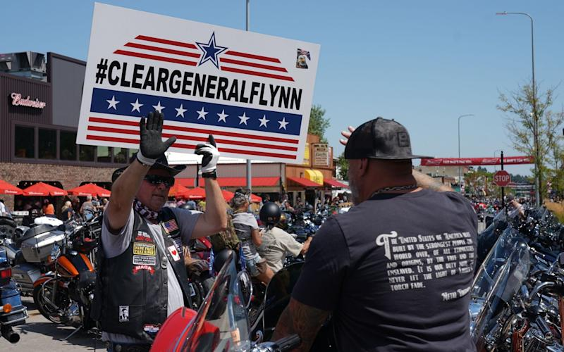 Bikers at Sturgis through their support behind General Michael Flynn - Bryan R Smith/AFP