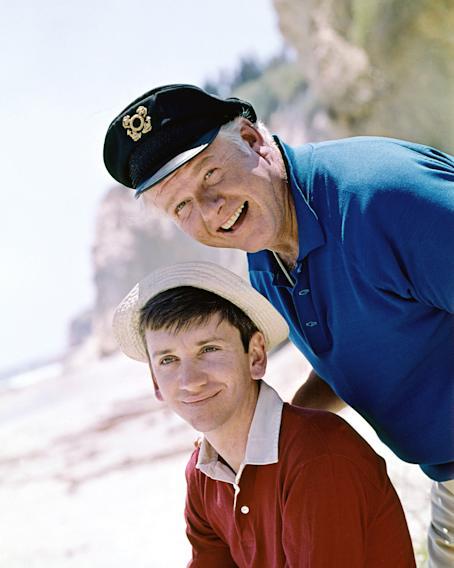 Gilligan (Bob Denver) and Jonas 'The Skipper' Grumby (Alan Hale Jr.)