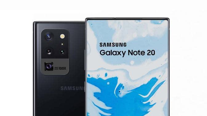 Gambar konsep Galaxy Note 20. (Doc: Phone Arena)