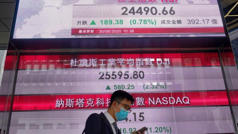 Hong Kong, China markets slide as concerns rise about overheated stocks, cases of coronavirus growing in US
