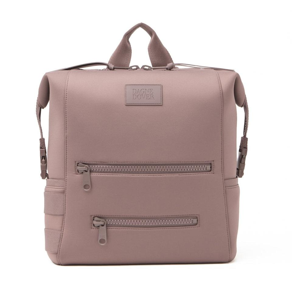 """<p>The brand behind this <a href=""""https://www.popsugar.com/buy/Dagne-Dover-Indi-Diaper-Backpack-489571?p_name=Dagne%20Dover%20Indi%20Diaper%20Backpack&retailer=dagnedover.com&pid=489571&price=195&evar1=moms%3Aus&evar9=44483623&evar98=https%3A%2F%2Fwww.popsugar.com%2Fphoto-gallery%2F44483623%2Fimage%2F46608724%2FDagne-Dover-Indi-Diaper-Backpack&list1=diaper%20bags%2Cbaby%20showers%2Cbaby%20shower%20gifts%2Cmom%20shopping%2Cbaby%20shopping&prop13=api&pdata=1"""" rel=""""nofollow"""" data-shoppable-link=""""1"""" target=""""_blank"""" class=""""ga-track"""" data-ga-category=""""Related"""" data-ga-label=""""https://www.dagnedover.com/collections/indi-diaper-backpack#Dune"""" data-ga-action=""""In-Line Links"""">Dagne Dover Indi Diaper Backpack</a> ($195) makes the softest fabrics imaginable! </p>"""
