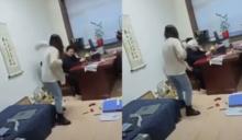 噁男官員屢性騷 她怒闖辦公室「拖把爆頭+髒水潑臉」反擊
