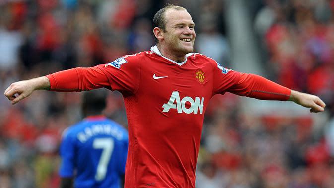 Striker legenda Manchester United, Wayne Rooney (AFP)