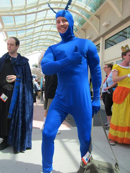 Thumbs up from The Tick - San Diego Comic-Con 2012